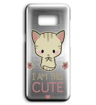 I am this cute! Anime Katze Handyhülle