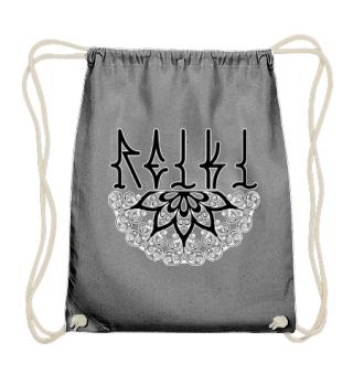 ♥ REIKI - Retro Heart Mandala - black