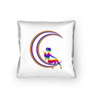 Rainbow Fairy on the Moon - Gift Idea