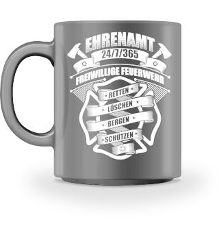 Freiwillige Feuerwehr Ehrenamt Tasse