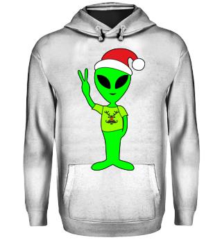 Peace Alien - Santa Claus Rudolph