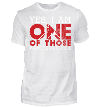Vintage Wrestling Geschenk - Yes I´m One Of Those Wrestling People - Gift Wrestler Wrestling Fun Gag