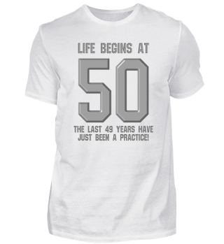 Life begins at 50 50 years 50th Birthday Gift