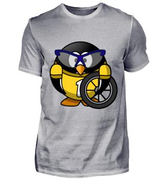 Pinguin Linux Rennfahrer