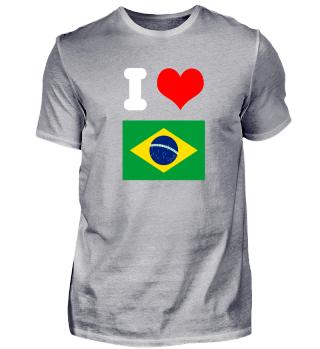 I love Brasilien Design Motiv Geschenk