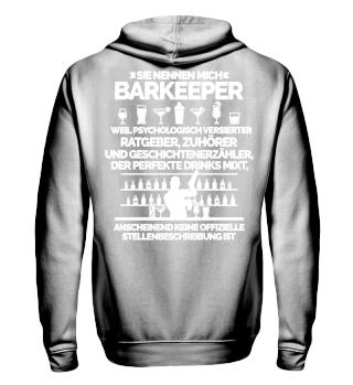 Barkeeper Stellenbeschreibung