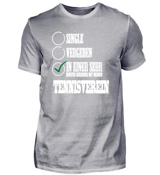 Beziehung mit meinem Tennisverein Single Solo T-Shirt Shirt