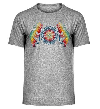 Kokopelli with Flowers Mandala Shirt