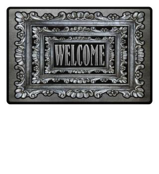 ★ Vintage Frame Mirror - welcome I