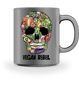 Vegetable Skull ➢Vegan Rebel ➢Go Vegan