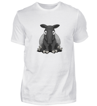 Tapir funny cartoon comic animal gift