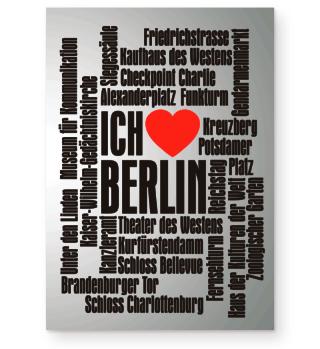 ★ Ich Liebe BERLIN - schwarz Poster