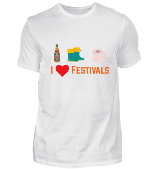 I Love Festivals Shirt