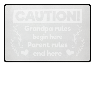 Grandpa rules begin here - gift