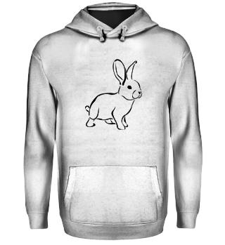 Kaninchen in schwarz