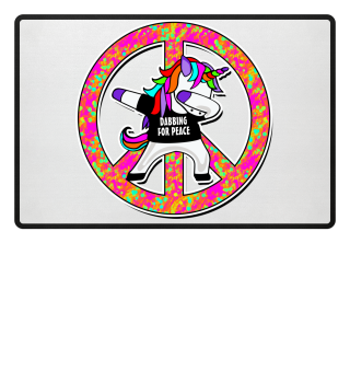 Dabbing Rainbow Unicorn - Peace Dab 2