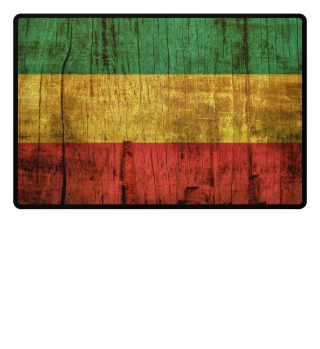 Rasta Reggae Flag On Wood Fußmatte
