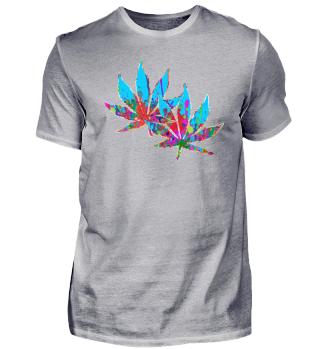 ★ Crazy Colored Marijuana Leaves 4
