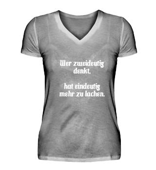 Spruch T-Shirt Zweideutig