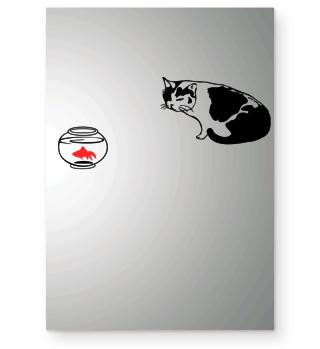 Cat and Goldfish - Gift Idea