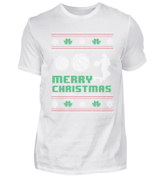 Funny Basketball Shirt Merry Christmas