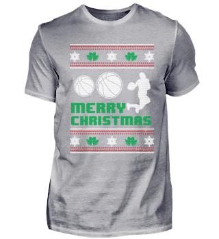 Funny Basketball Shirt Merry Christmas