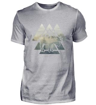 Moose Elk Forest Nature Desing