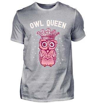 Owl Queen Eule Königin Pink Geschenk