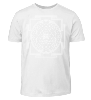 SRI YANTRA - luck prosperity I - white