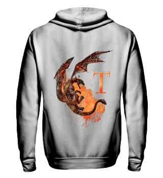Drachen Buchstabe T