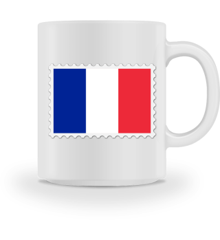France flag stamp as a gift idea