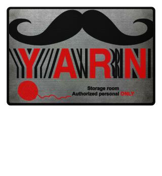 Yarn Stash Entrance Floormat keep out