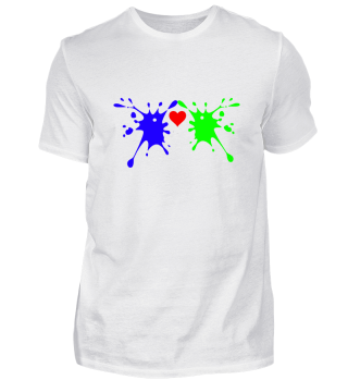 Farbkleckse verliebt Geschenkt idee
