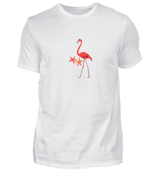 Flamingo Starfish Vacation Summer Gift