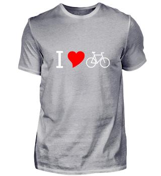I love Fahrrad fahren Radsport Herz Idee