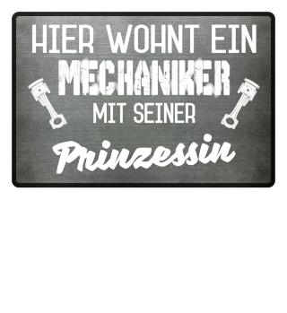 MECHANIKER PRINZESSIN - FUSSMATTE