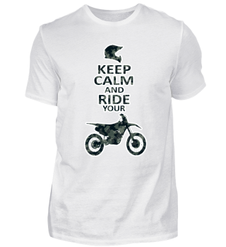 Keep Calm Motocross Design englisch