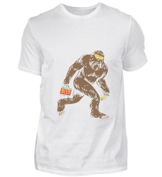 Funny Beer Tshirts I Bigfoot Yeti Gift