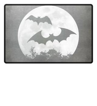 Fledermaus Vollmond bat moon Geschenk