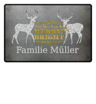 ★ Merry Bright - Vintage Deers IIIa