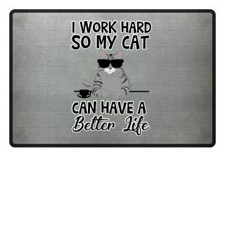 Harte Arbeit Katze Geschenkidee Geschenk