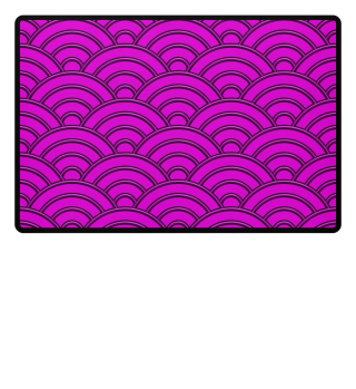 Geometric half-circles waves pink