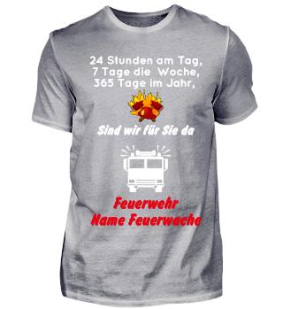 Feuerwache Shirt - personalisierbar
