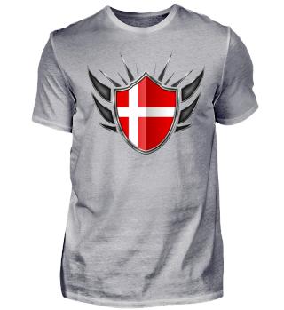 Dänemark-Denmark Wappen Flagge 013