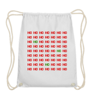 HO HO HO - red green grunge pattern