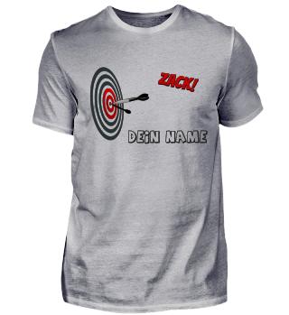 Dart Bullseye Team Shirt Name personalisierbar
