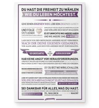 Glücksmanifest Poster (Lila)