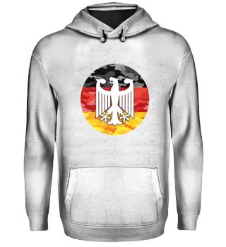 Deutschland Fahne mit Adler Camouflage