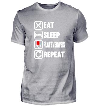 Platzverweis Eat Sleep Repeat - Fussball