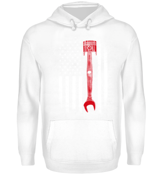 Cool Mechanic shirt/sweater with US flag